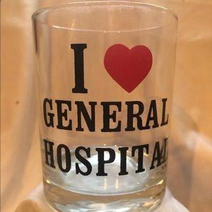 Vintage Drinking Glass HTF General Hospital Soap
